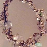 Silver Dragonfly Strands bracelet