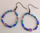 Blueberry Sherbert earrings