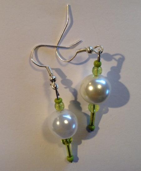 Snowy Green earrings for sale on Felt
