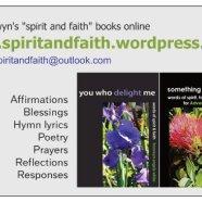 Spirit and Faith business card - back