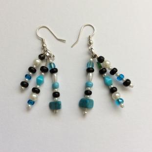 Blue Spray earrings