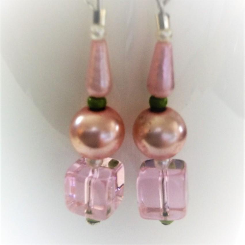 blushing spring earrings